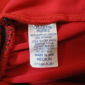 Celestial Bodiez Pants - Celestial Bodiez Red Scrunch Leggings M